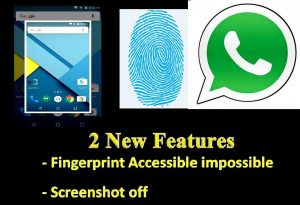 WahtsApp New Security Fingerprint Features