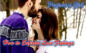 Express love feelings propose a college school girlfriend
